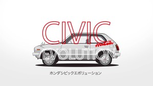 Evolution of the Honda Civic Hatch
