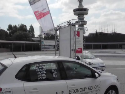 Driving Academy attempts Greek Fuel Economy record Day 2