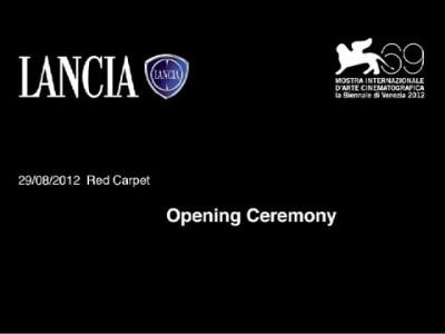 VENICE FILM FESTIVAL 2012 OPENING CEREMONY
