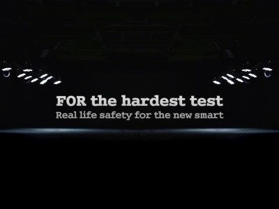 Smart ForTwo CrashTest with SClass