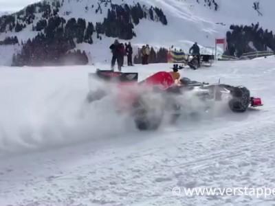 Max Verstappen F1 Snow Demo Red Bull RB7 Part 3