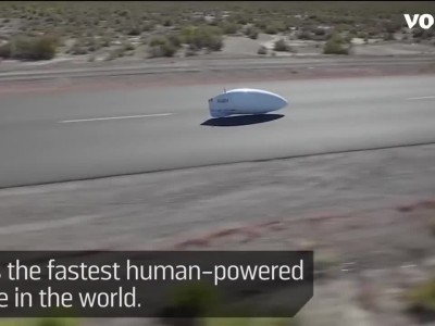 World's Fastest Human-Powered Vehicle Hits 89 MPH