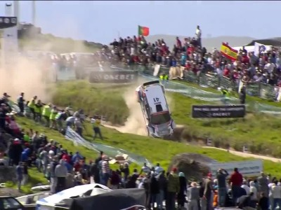 WRC 2017 Portugal Gilbert Crash