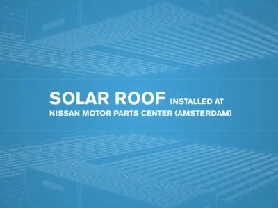 Η Nissan  θέτει σε λειτουργία μεγαλύτερη οροφή με συλλέκτες ηλιακής ενέργειας στην Ολλανδία