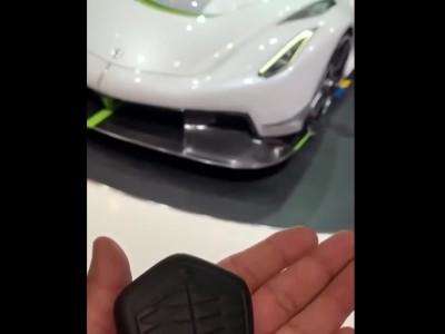 To μοναδικό κλειδί του Koenigsegg Jesko