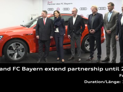 Το ηλεκτρικό Audi e-tron για τους παίκτες της Μπάγερν Μονάχου
