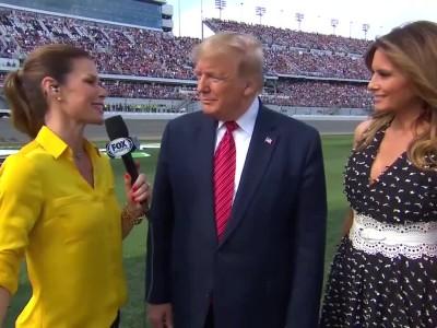 Ο Πρόεδρος Trump στην Daytona 500 - δηλώσεις
