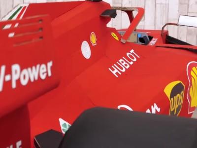 Μία Ferrari F1 από χαρτόνι