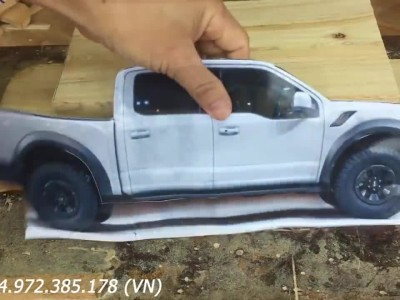 Ford F-150 Raptor from wood